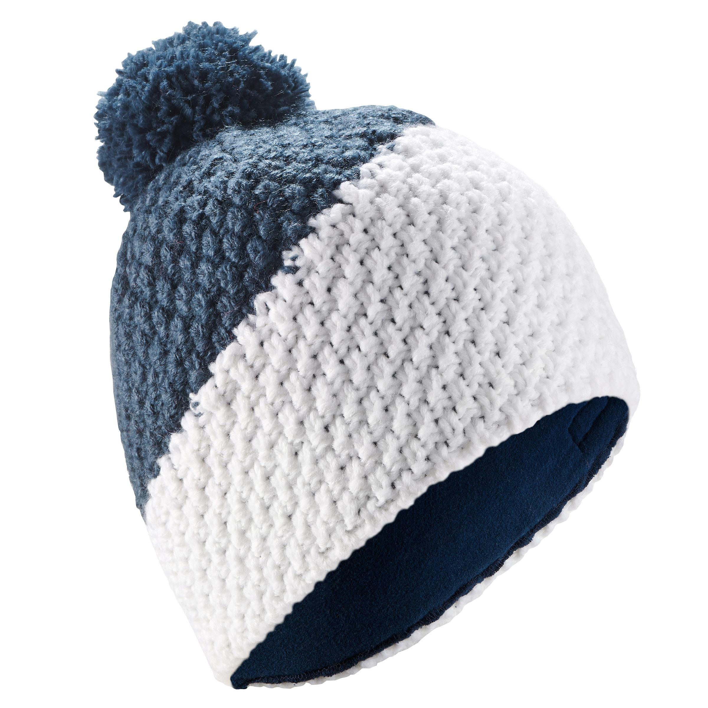 Skimütze Timeless Erwachsene weiß/blau | Accessoires > Mützen > Skimützen | Blau - Weiß | Wed'ze