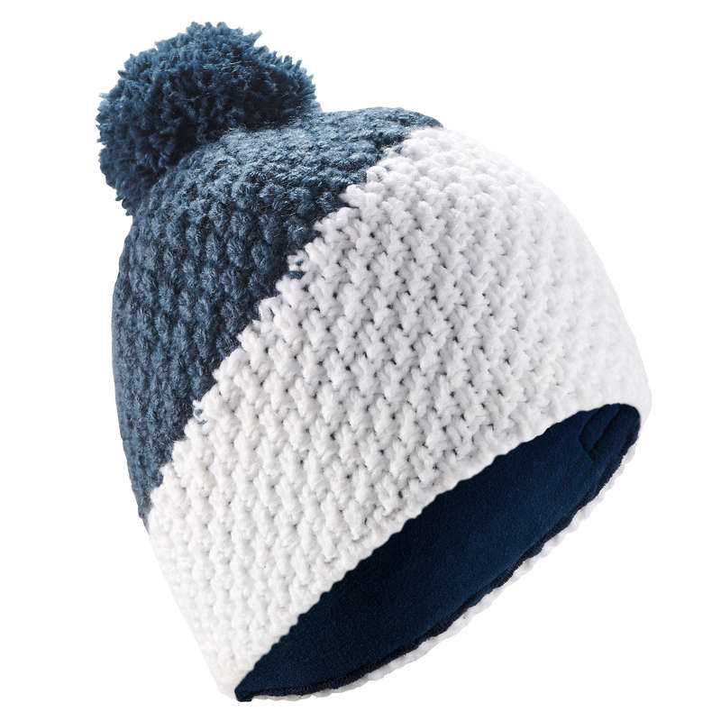ADULT SKI AND SNOWBOARD HEADWEAR Ski Wear - TIMELESS HAT WHITE BLUE WEDZE - Ski Wear