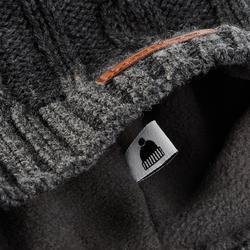 Skimütze Zopfmuster Wolle Torsades Erwachsene grau