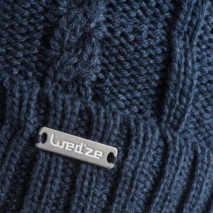 Skimuts kabelbrei Fur marineblauw