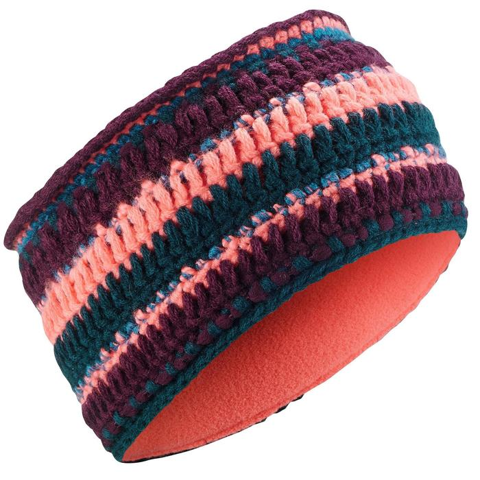 Ski hoofdband voor volwassenen Mixyarn petrol koraal
