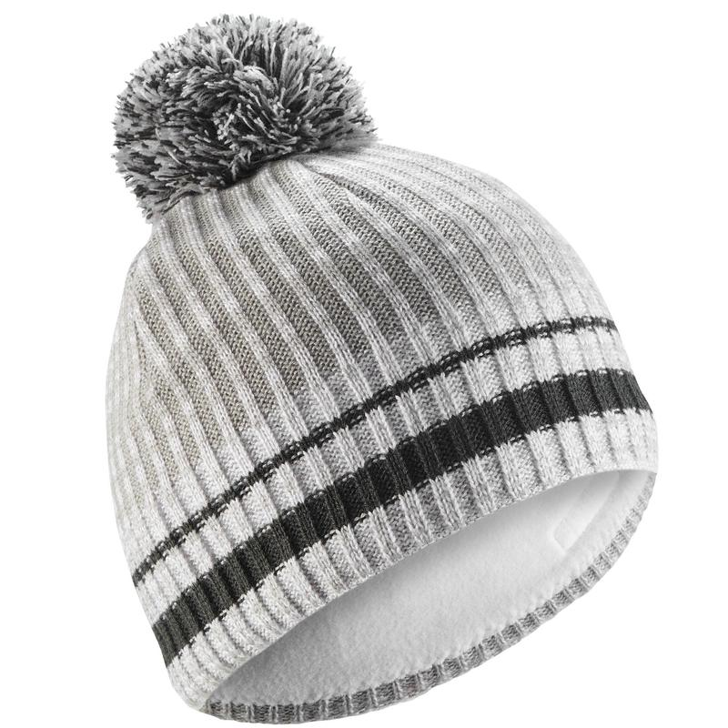 Adult Rib Ski Hat - White