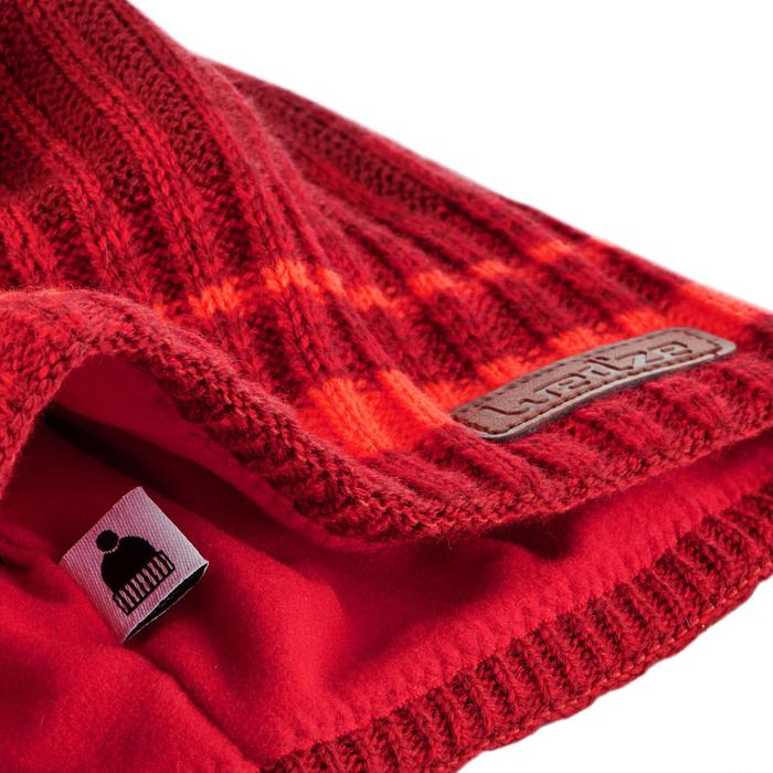 BONNET DE SKI ADULTE RIB ROUGE