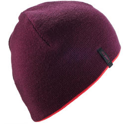 TUQUE DE SKI ADULTE RÉVERSIBLE VIOLET ROSE