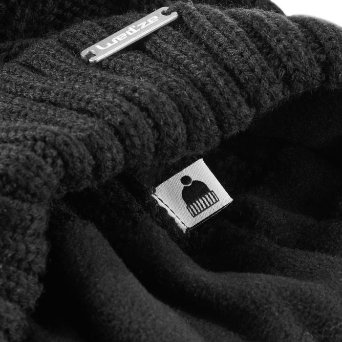 Skimuts volwassenen kabelbrei nepbont zwart