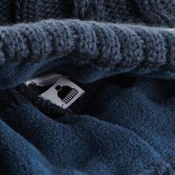 Skimütze Zopfmuster Torsades FUR Erwachsene marineblau