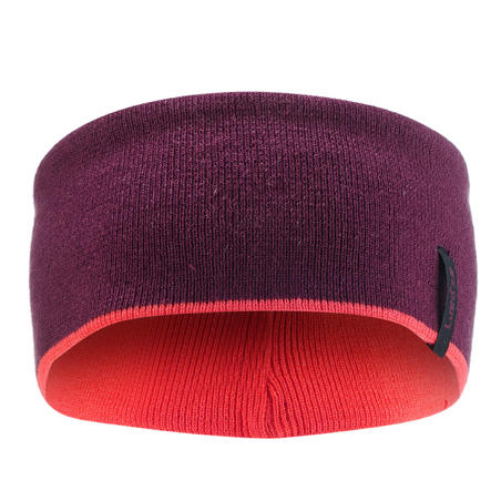 ADULT REVERSE SKIING HEADBAND - PURPLE PINK