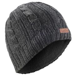 CABLE STITCH ADULT SKI HAT GREY