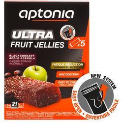 Fruit jellies Ultra zwarte bes appel 5x 25 g