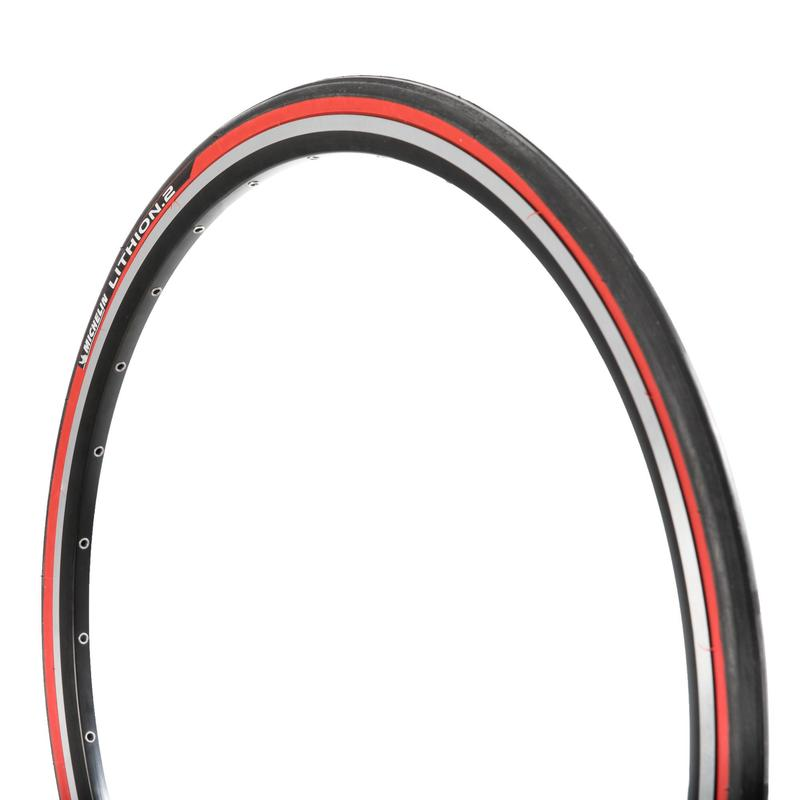 Buitenband voor racefiets Lithion 2 rood 700X25 vouwband / ETRTO25-622
