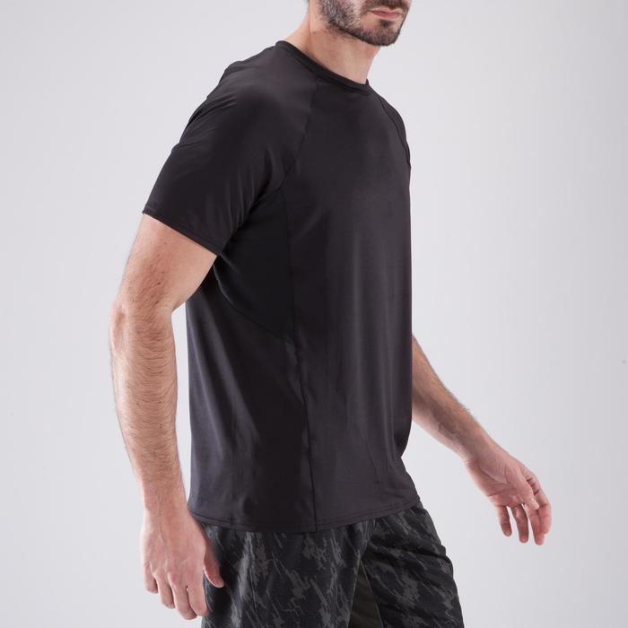 T-Shirt Cardio 500 Fitness Herren schwarz