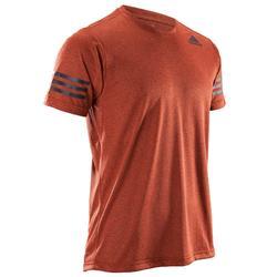 T-shirt fitness cardio-training homme FREE LIFT orange