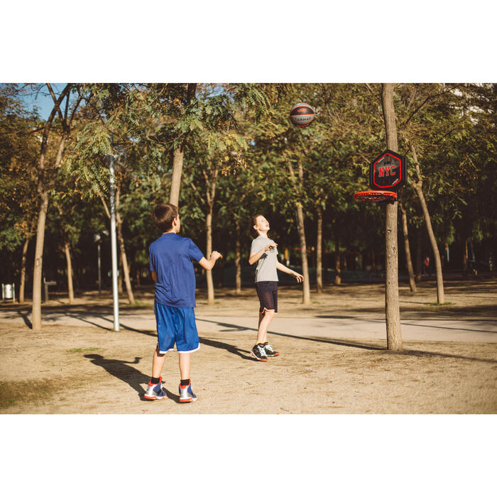 Panier de basket enfant/adulte THE HOOP Playground bleu orange. Transportable. - 1414967