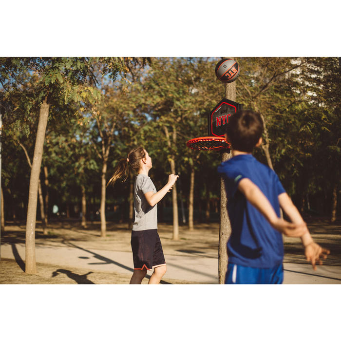 Panier de basket enfant/adulte THE HOOP Playground bleu orange. Transportable. - 1414970