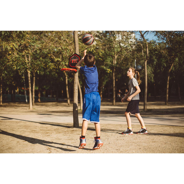 Panier de basket enfant/adulte THE HOOP Playground bleu orange. Transportable. - 1414972