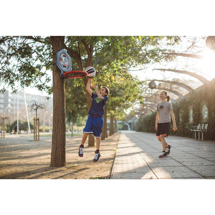 Basketbalpaal KD/VW The Hoop Buzzards blauw. Verplaatsbaar.