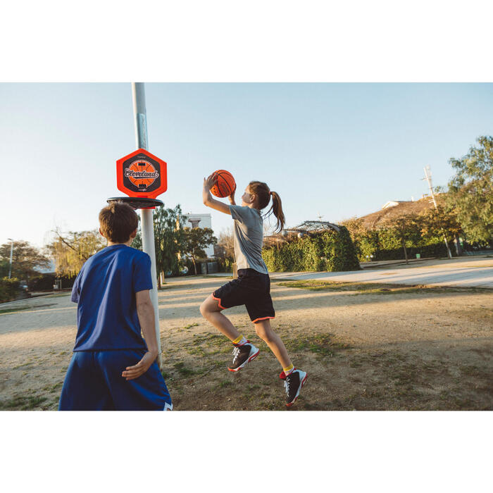 Panier de basket enfant/adulte THE HOOP Playground bleu orange. Transportable. - 1414979