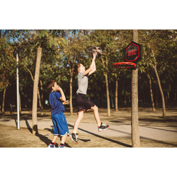 Panier de basket enfant/adulte THE HOOP Playground bleu orange. Transportable. - 1414994