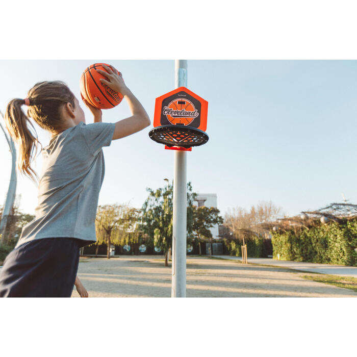 Panier de basket enfant/adulte THE HOOP Playground bleu orange. Transportable. - 1414999