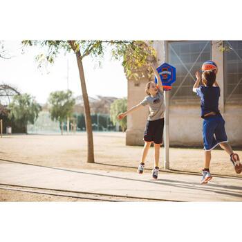 Basketbalbord kind/volwassene The Hoop Playground blauw oranje Verplaatsbaar.