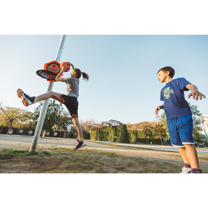 Panier de basket enfant/adulte THE HOOP Playground bleu orange. Transportable. - 1415008