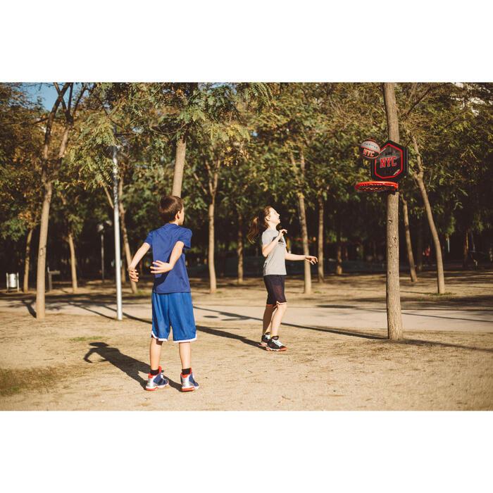 Panier de basket enfant/adulte THE HOOP Playground bleu orange. Transportable. - 1415011