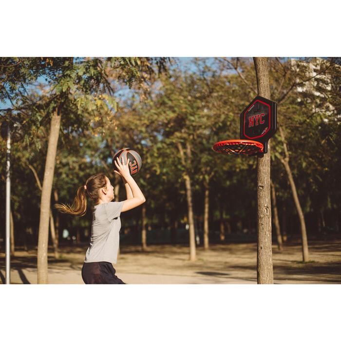 Panier de basket enfant/adulte THE HOOP Playground bleu orange. Transportable. - 1415022