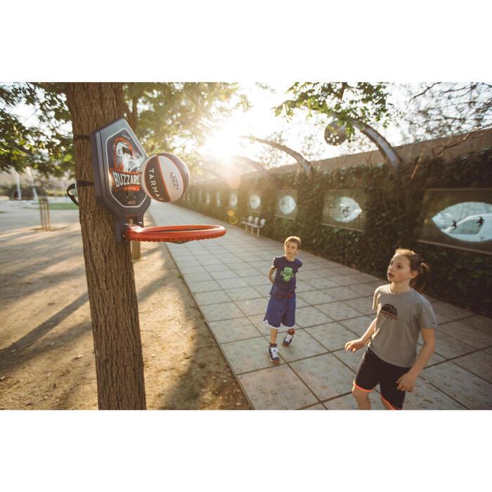 Basketballkorb The Hoop Buzzards blau transportierbar
