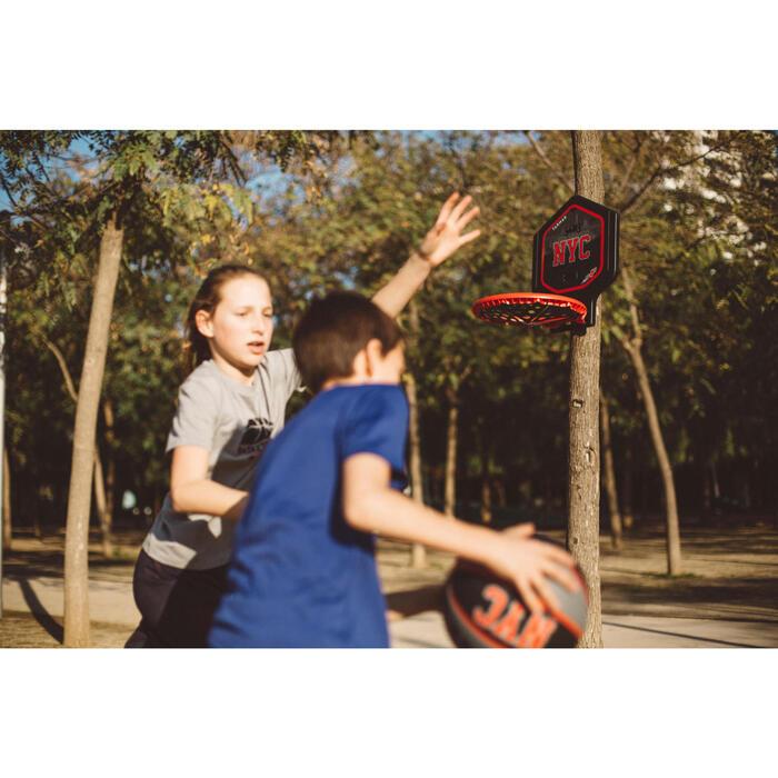 Panier de basket enfant/adulte THE HOOP Playground bleu orange. Transportable. - 1415026