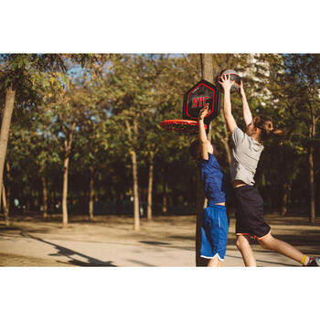 Panier de basket enfant/adulte THE HOOP Playground bleu orange. Transportable. - 1415034