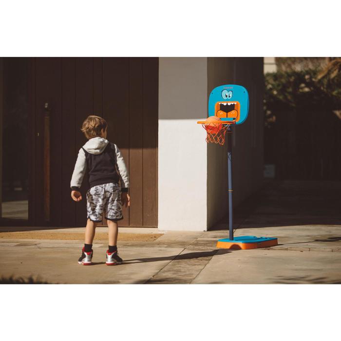 Panier de basketball pour enfant K100 Monstre bleu. 0,9m à 1,2m. Jusqu'à 5 ans. - 1415086