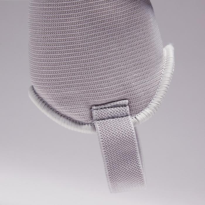 Espinillera de fútbol adulto F140 (tobillera desmontable) blanco gris