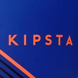 Espinillera de fútbol adulto F140 (tobillera desmontable) azul naranja