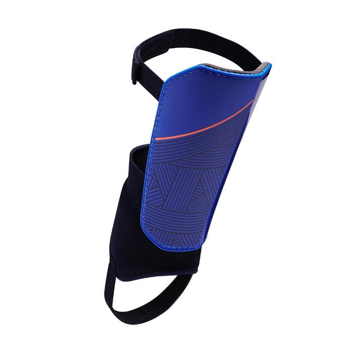 Protège-tibias de football adulte F140 (chevillère détachable) - 1415123