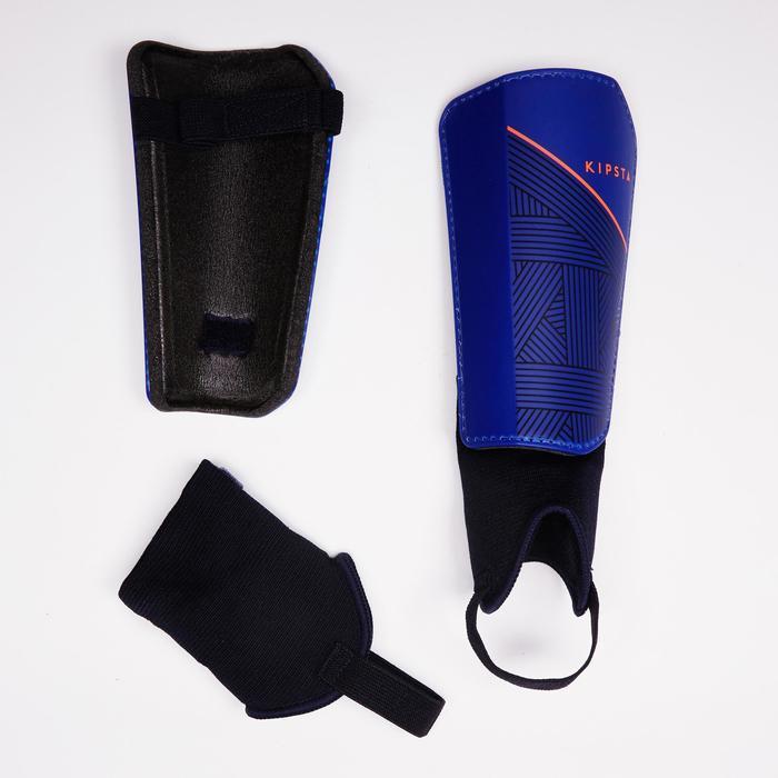 Protège-tibias de football adulte F140 (chevillère détachable) - 1415124