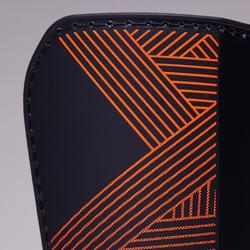 F180 Soccer Shin Pads Blue/Orange - Adults