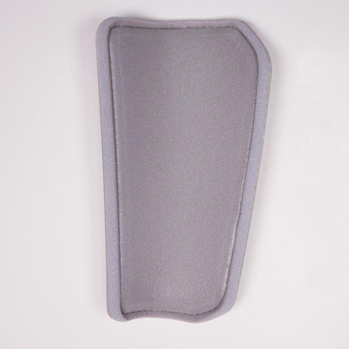 Protège-tibias de football adulte F180 blanc gris