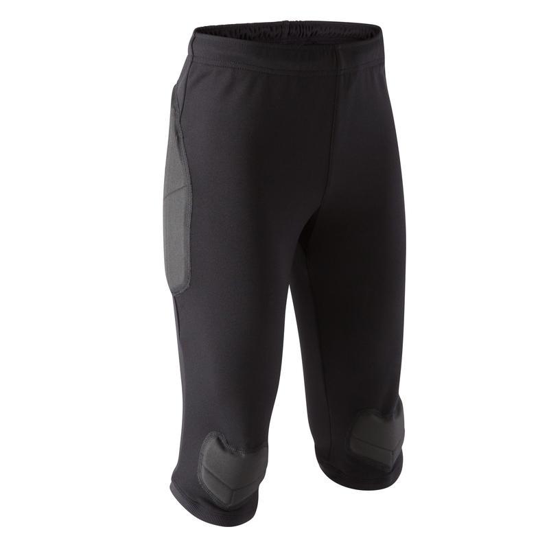 F100 Kids' Goalkeeper Cropped Bottoms - Black