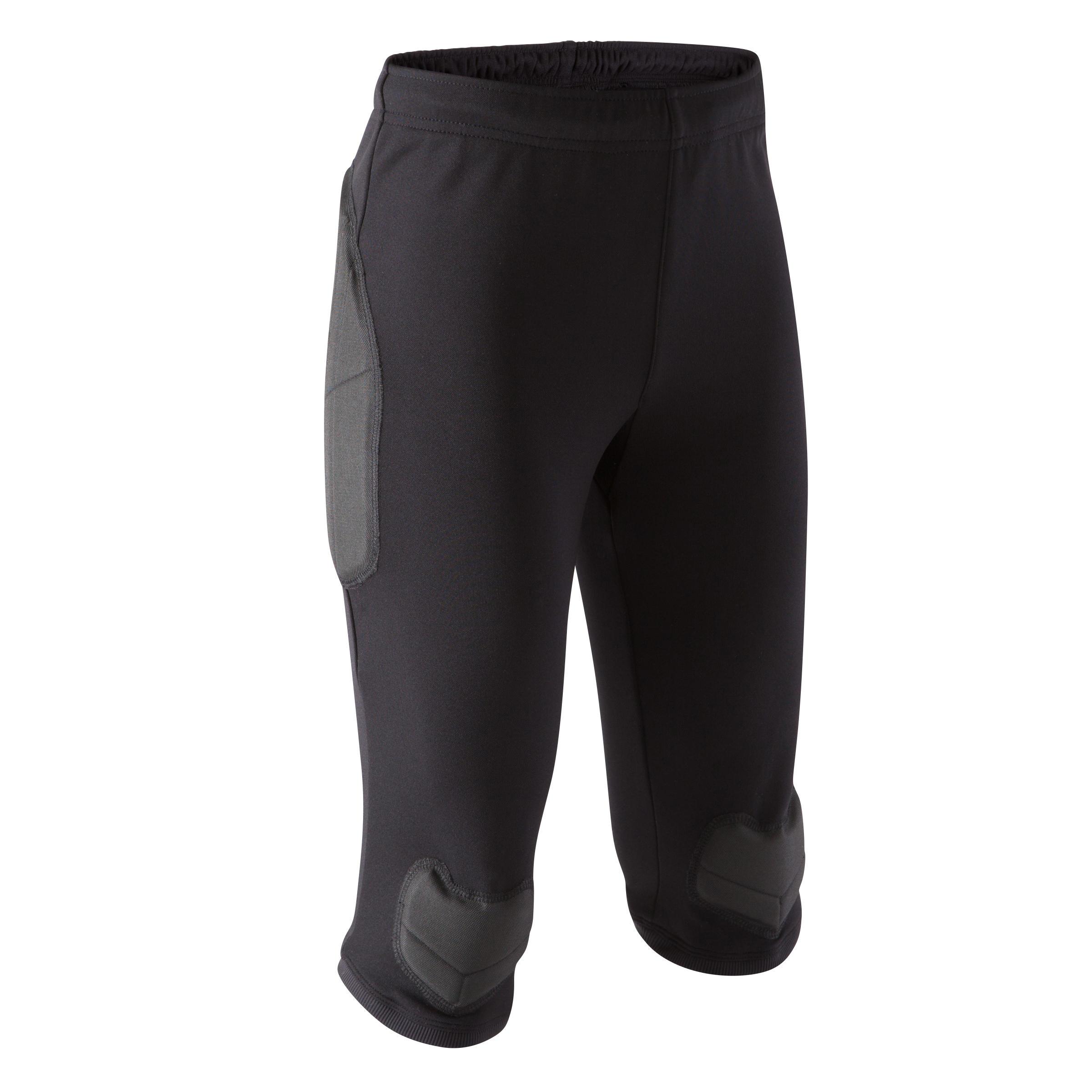 Kipsta Keepersbroek kind F100 driekwart zwart