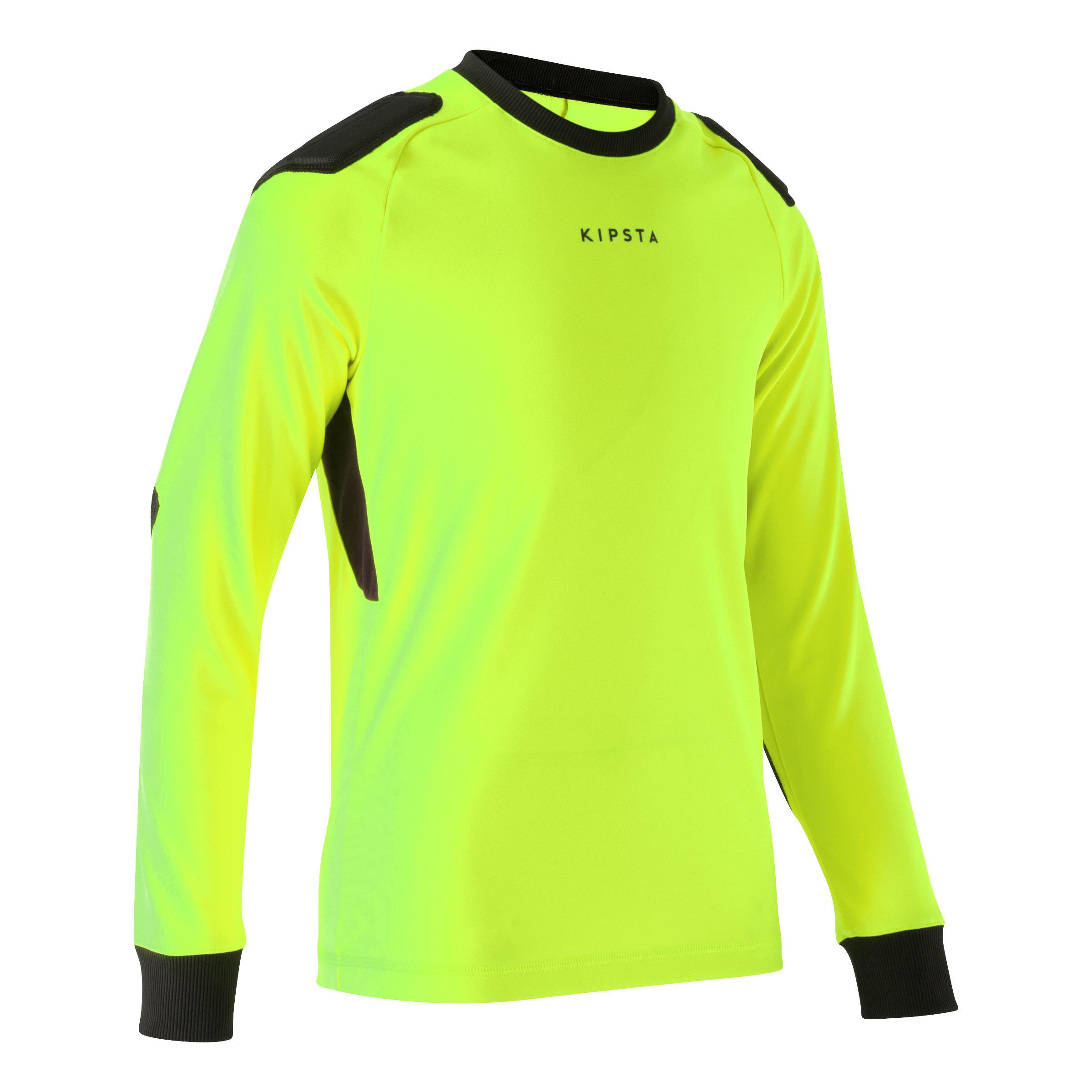 maillot gardien de but enfant F100 jaune