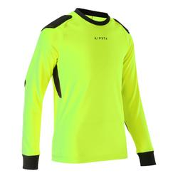 Camisola de Guarda-redes Futebol Criança F100 Amarelo