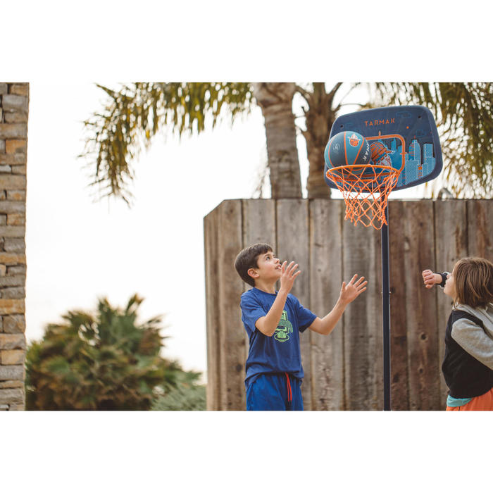 Panier de basketball enfant K500 vaisseau bleu. 1,30m à 1,60m. Jusqu'à 8 ans. - 1415254