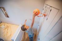 Panier de basket mural ensemble mini B Deluxe à fixer au mur - Enfants/Adultes