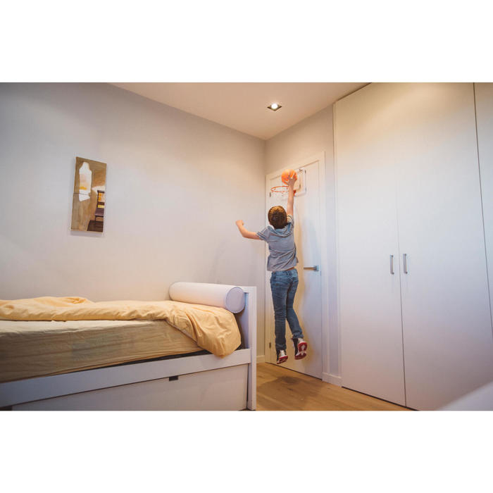 Panier de basket mural set mini B Deluxe pour enfant et adulte à fixer au mur