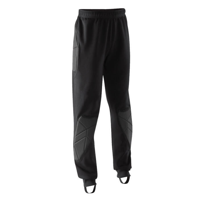 Pantalon de gardien de but enfant F100 noir