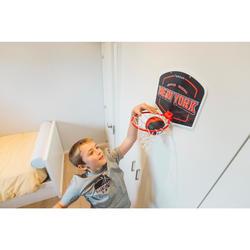 Basketball-Set Mini B New York Erwachsene/Kinder blau inklusive Ball