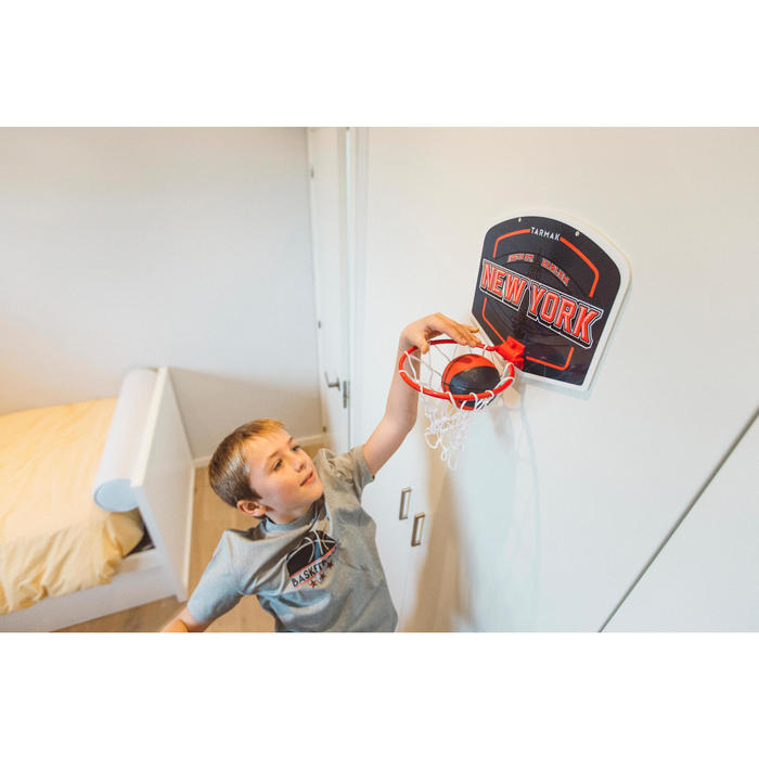 Mini panneau de basket enfant/adulte Set Mini B New York bleu. Ballon inclus. - 1415314