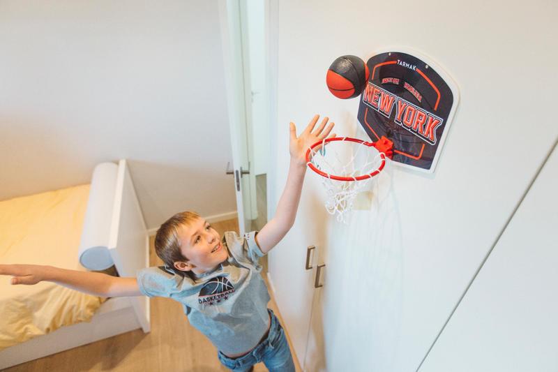 Mini B Kids'/Adults Mini Basketball Hoop - Blue/New YorkBall included.