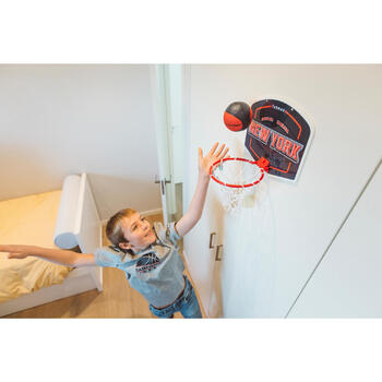 Mini panneau de basket enfant/adulte Set Mini B New York bleu. Ballon inclus. - 1415318