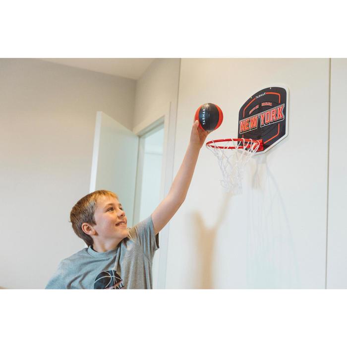 Mini panneau de basket enfant/adulte Set Mini B New York bleu. Ballon inclus. - 1415328